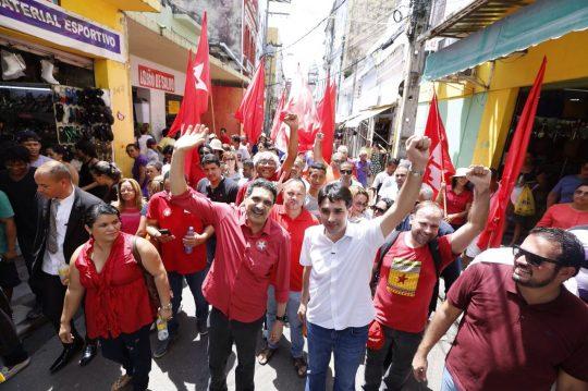 Primeiro ato da campanha de João Paulo e Silvio Costa Filho no Recife. Foto: Társio Alves