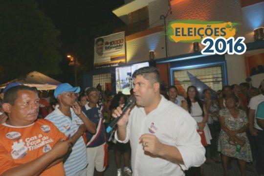 Rinaldo Junior reiterou seu compromisso com a população recifense, especialmente a classe trabalhadora e a população carente do Recife. Foto: Luara Olívia