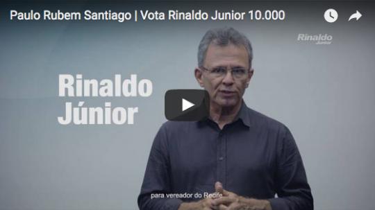 Paulo Rubem Santiago vota Rinaldo Junior Vereador